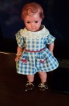 celluloid doll blue check