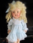 shirley look alike blonde hair blue dress 003