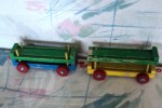 two wood wagons